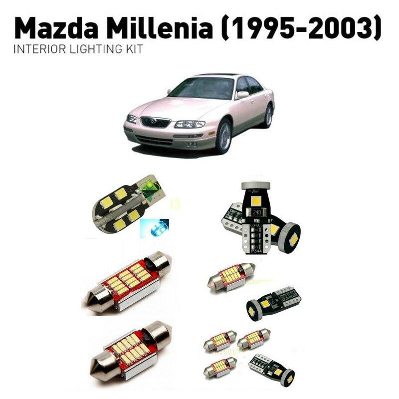 Luces interiores Led para mazda millenia 1995-2003 11pc luces Led para coches kit de iluminación bulbos automotrices Canbus