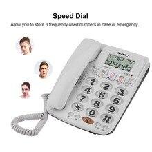 KX-2035CID téléphone filaire à 2 lignes avec haut-parleur téléphone à composition rapide affichage des appels entrants avec identification de lappelant téléphone fixe de bureau à domicile