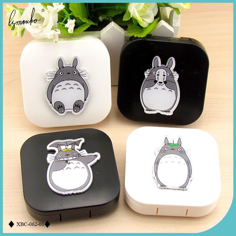 Lymouko-boîte de conteneur Portable pour lentilles, style voisin Totoro étui pour lentilles de Contact, nouveau Design accessoires lunettes