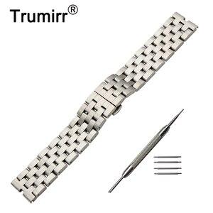 22mm Stainless Steel Watchband +Tool for Motorola Moto 360 1 1st Gen 2014 Smart Watch Butterfly Buckle Strap Band Wrist Bracelet