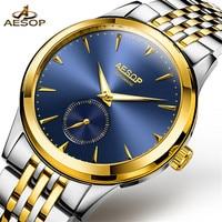 AESOP Mens Watches Top Brand Luxury Automatic Mechanical Watch Men Full Steel Business Waterproof sport Watch Relogio Masculino