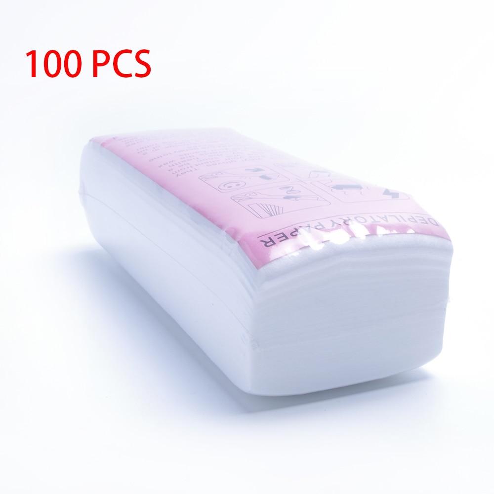 100 stücke Entfernung Vlies Körper Tuch Haar Entfernen Wachs Papier Rollen Hohe Qualität Haar Entfernung Epilierer Wachs Streifen Papier Rolle paper for depilation paper forpaper for wax -