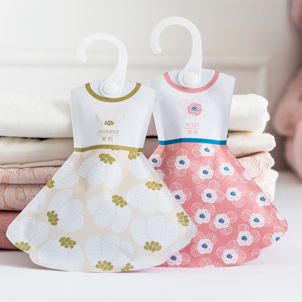 5 tipos creativo gancho estilo bolsa de incienso armario princesa falda forma bolsita Anti-moho Control de Plagas Aroma Paquete de fragancia