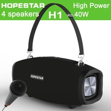 HOPESTAR X 40W High Power wireless Potable Bluetooth Speaker Move KTV Music Column Outdoor Waterproof Bass PK Xtreme BOXBOOM