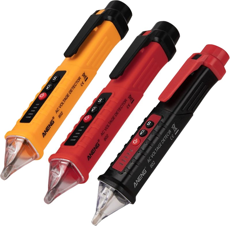 VD802 Digital Non-kontakt AC Voltage Detector Tester Meter 12V-1000v Stift Volt Aktuelle Elektrische Test bleistift Elektrische Anzeige LE