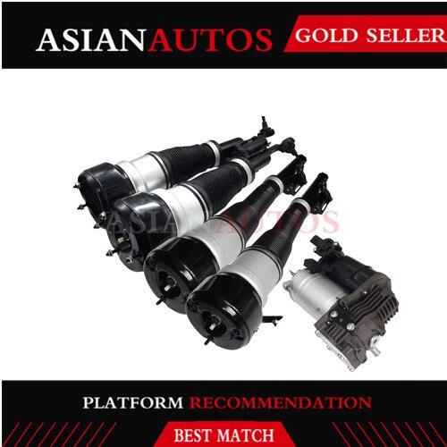 5 piezas frente amortiguador trasero suspensión de aire compresor Mercedes Clase S W221 S350 S500 2213209313 de 2213205513 a 2213205613