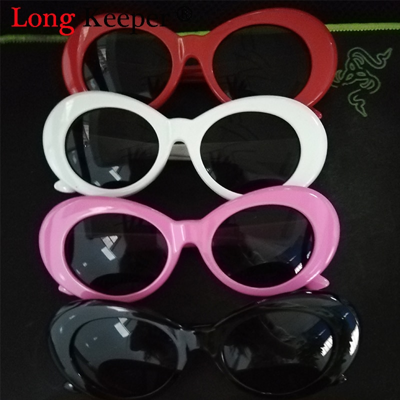 Goggles Kurt Cobain Glasses MenRetro Brand Designer Oval Sunglasses Female Male NIRVANA Sun Glasses UV400 gafas de sol mujer