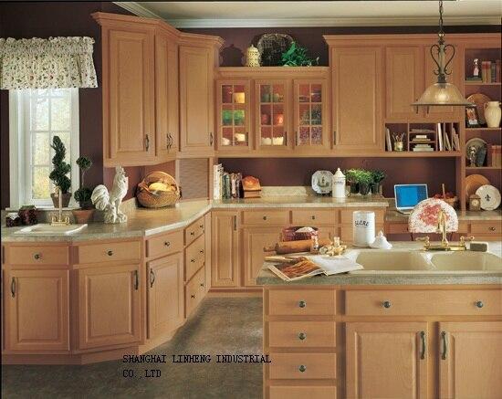 Armário de cozinha de madeira maciça e design de graça (LH-SW006)
