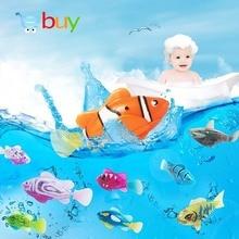 Flash Swimming Electronic Pet Fish Bath Toys for Children Kids Bathtub Battery Powered Swim Robotic