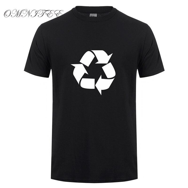 Camiseta de manga corta de algodón con Logo de reciclaje de Leonard para hombre de The Big Bang Theory, camisetas XS-3XL OT-406