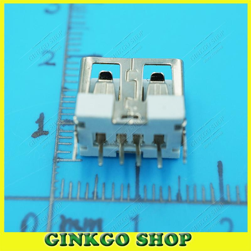 500 قطعة/الوحدة 2.0 USB الإناث جاك واجهة ميناء ، 180 درجة AF نوع قصيرة الجسم-خط USB الإناث موصل الأبيض شحن مجاني