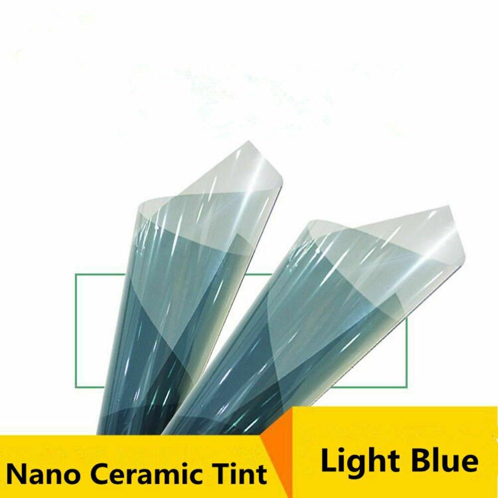 "50cm x 800cm (20""x315"") VLT75% Nano Ceramic Film Wrap Car Front Side Adhesive Film Solar Tint Summer"