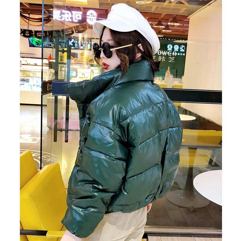 Solid Bright Color Short Cotton Coat Women Winter Parkas Thicken Warm Jacket Woman Parkas Mujer Casual Down Cotton Coat A452