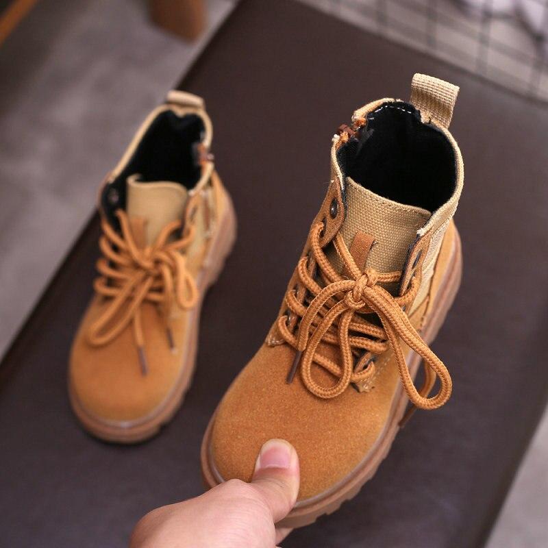 Botas Lobo de guerra Martin de primavera y otoño para niños, botas informales para niños, uniformes de policía con botas
