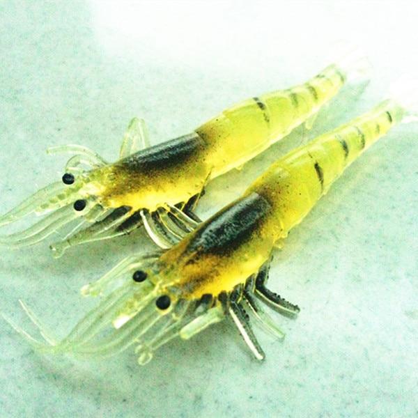 Free shipping 20pcs a lot 9cm 3.5g natrual color soft plastic prawn lure bait soft artificial shrimp lure fishing shrimp tackle
