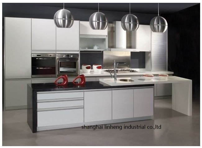 PVC/vinyl kitchen cabinet(LH-PV085) pvc vinyl kitchen cabinet lh pv032