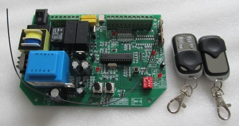 AC انزلاق بوابة فتاحة وحة التحكم مع 2 قطعة التحكم عن بعد ، رمز التعلم