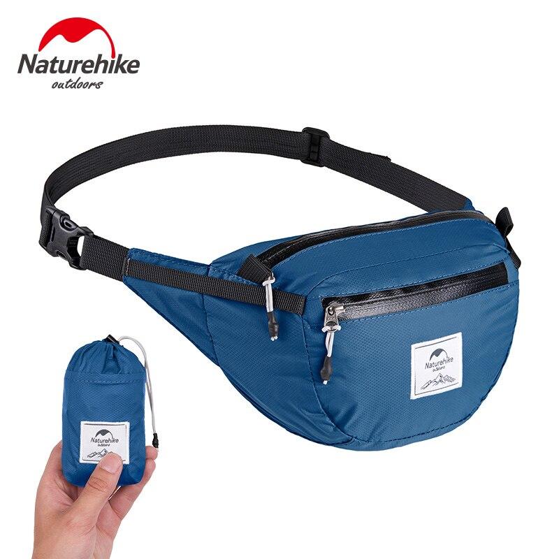 Naturehike Outdoor Waterproof Waist Pack Running Belt Waistband Sports Travel Case Pouch Holder Bag Phone Passport Cards Cash