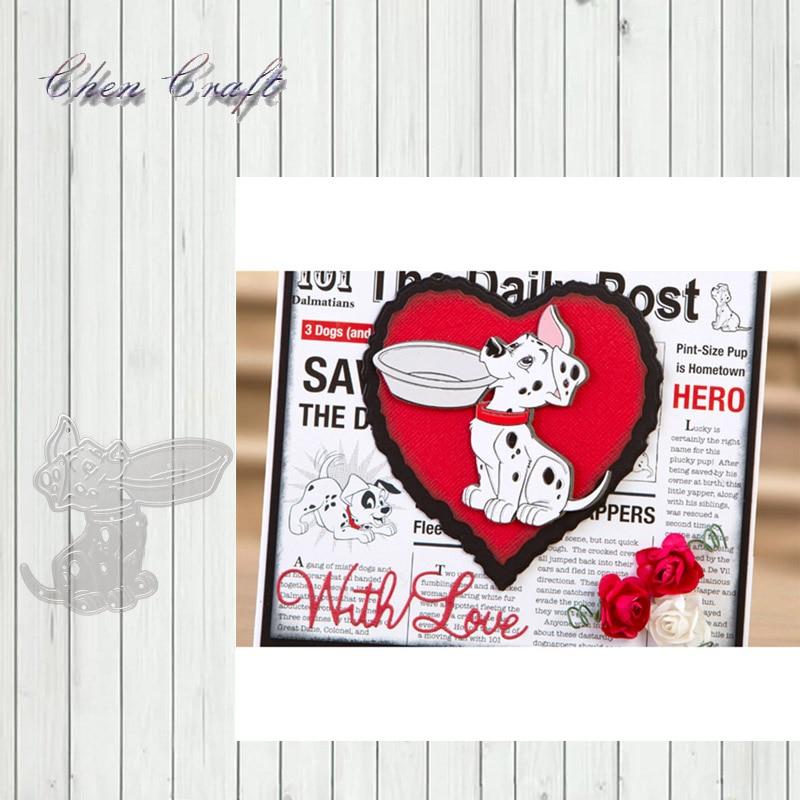 Puppy feeding metal Cutting Dies Stencils For Scrapbooking Paper Cards Crafts DIY 2019 New