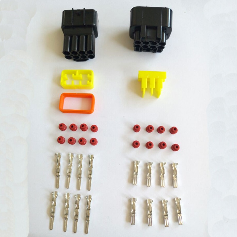 8 Pin водонепроницаемый разъем автомобильный разъем DJ7081Y-2.3-11/21 штырьковый и гнездовой разъем 8 отверстие в автомобиле разъем с клеммой
