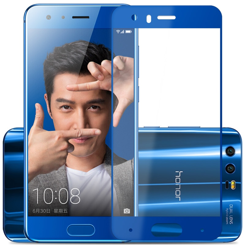 Pour+Huawei+honor+9+verre+tremp%C3%A9+pour+Huawei+honor+9+protecteur+d%27%C3%A9cran+couverture+compl%C3%A8te+2.5D+gris+pour+Huawei+honor9+film+de+verre+5.15