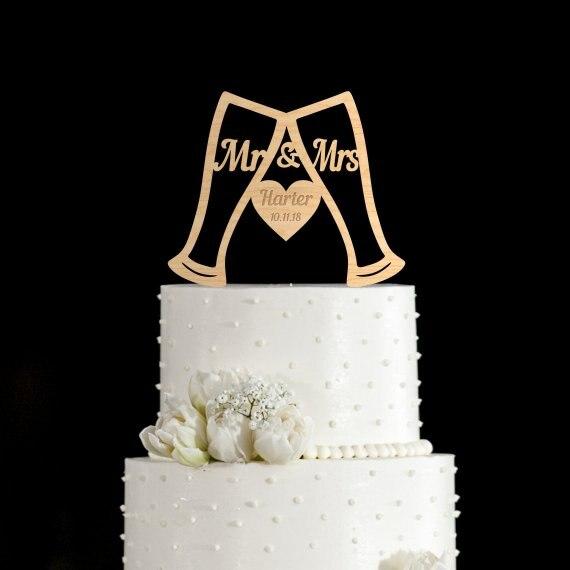 Verre à bière et à vin pour gâteau   Verre à bière, garniture de gâteau de mariage, décoration de gâteau pour le mariage