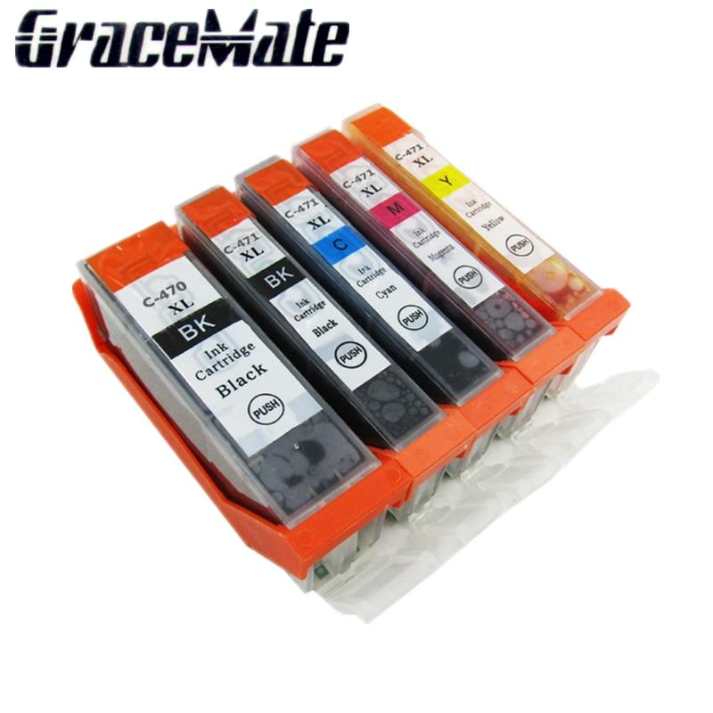 5pk pgi-470 cli-471 cartucho de tinta para impressora canon pgi470 cli471 pixma mg5740 mg6840 mg7740