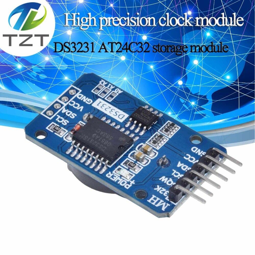 Модуль памяти TZT DS3231 AT24C32 IIC Precision RTC в режиме реального времени, модуль памяти RTC DS3231SN для Arduino raspberry pi, комплект для сборки