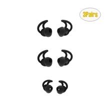 Hohe qualität 3 Pairs Ersatz Noise Isolation Silikon Earbuds Tipps Für Bose QC20 QC30 weiche komfortable silikon langlebig