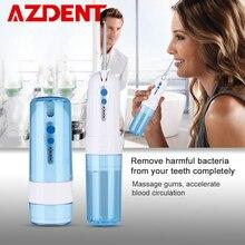 Pliable 4 Modes eau dentaire Flosser Portable pli Oral irrigateur USB Rechargeable étanche 200ml réservoir deau + 5 embouts de Jet