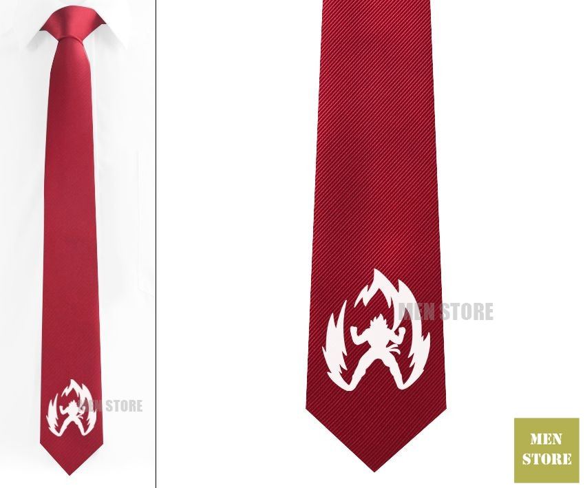 "Super Saiyan Goku Dragon Ball Z hombres Jacquard tejido delgado Delgado estrecho 2,3 ""Corbata 6 cm corbatas fiesta novio corbata gemelos LK072M"