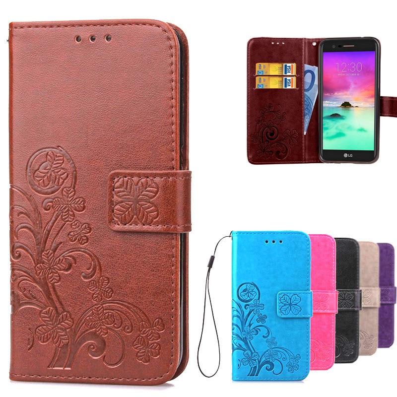 Чехол для телефона LG K10 2017 M250N X400 K 10, кожаный чехол-бумажник с откидной крышкой для LG K10 4G Lte K430ds K430 K420 K420N K410, чехол