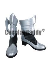 Royaume coeurs naissance par sommeil Aqua longues Cosplay chaussures bottes C006