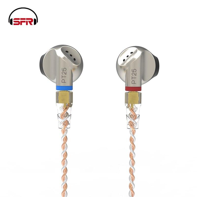 SENFER PT25 Graphene динамические наушники в ухо стерео наушники HI FI металлическая DJ гарнитура MMCX съемный кабель для iPhone xiaomi Sony