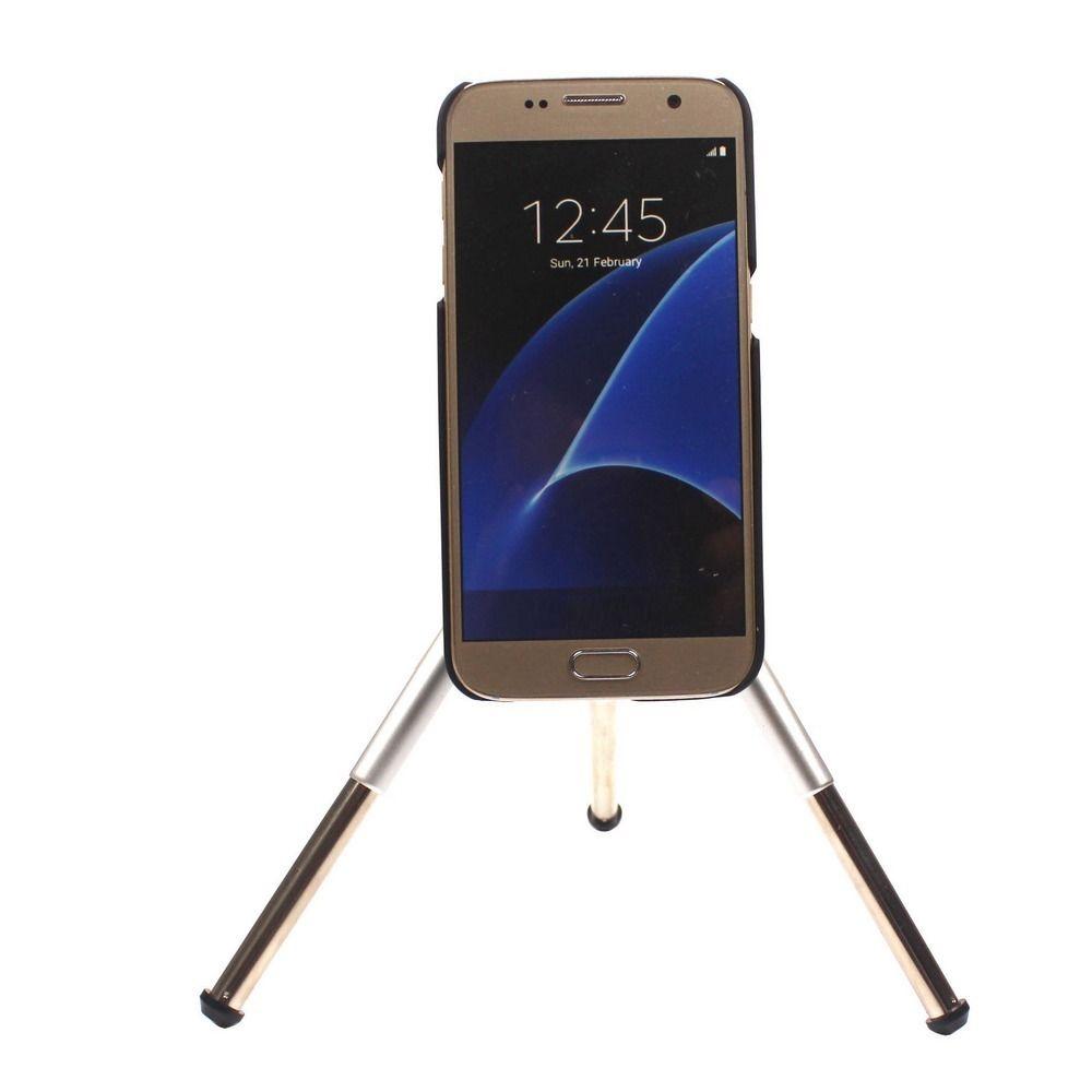 عدسة تلسكوب زووم بصري 12x لهاتف Samsung Galaxy S3 S4 S5 S6 S7 EDGE Plus ، طقم عدسات تليفوتوغرافي مع مشابك وحامل ثلاثي القوائم