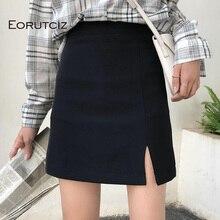 EORUTCIZ Summer Sexy Pencil Skirt Women Vintage High Waist Skirt Slim Elegant Mini Black Skirts LM324