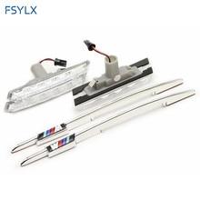 FSYLX Car LED side lamps for BMW E46 side led light for BMW E46 1998-2001 2D/3D/4D auto LED Side Marker Lamps for BMW E46