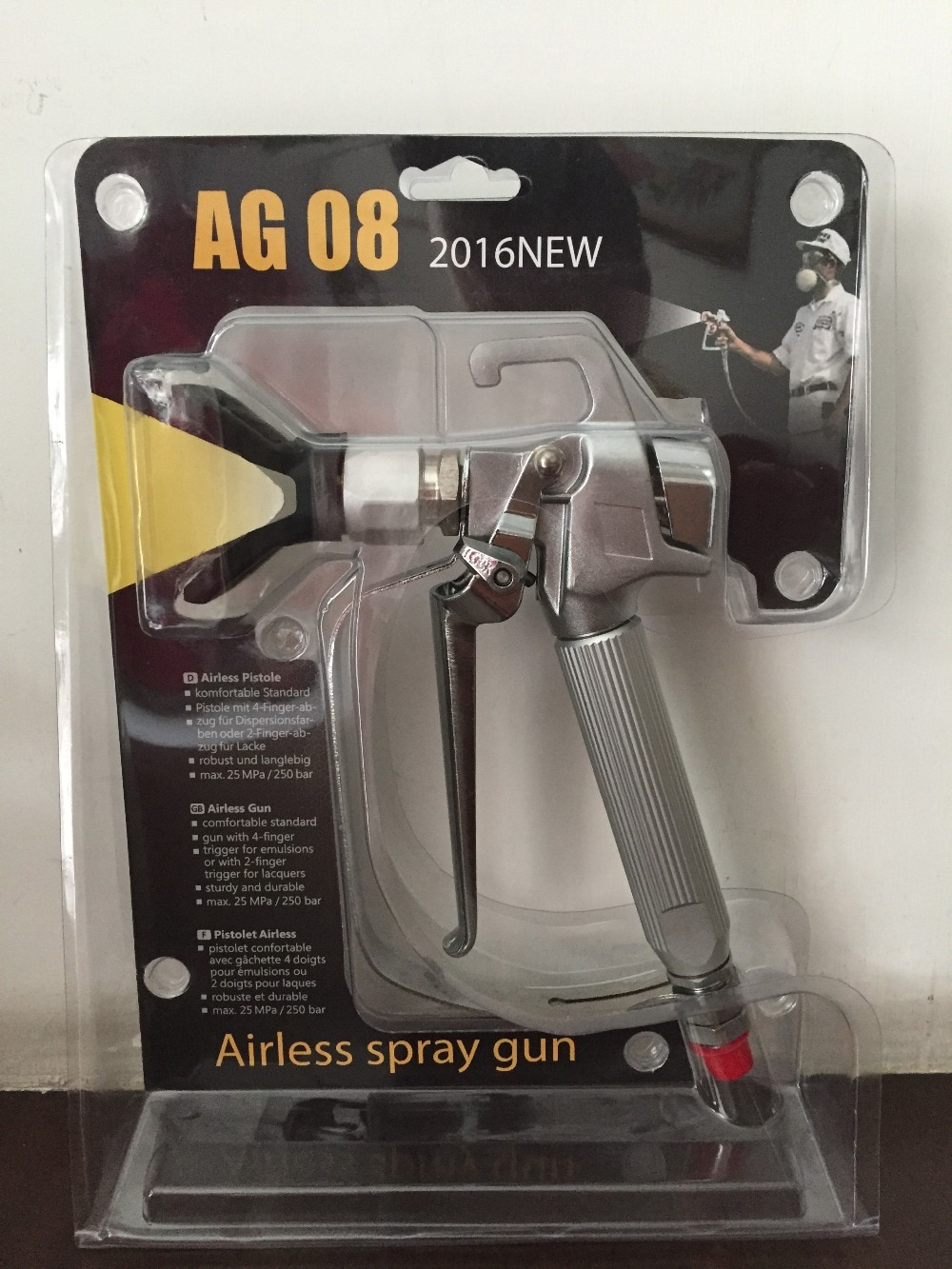 Aftermarket professional high quality electric spray gun AG08 sprayer gun with tip517 wager AG08 enlarge