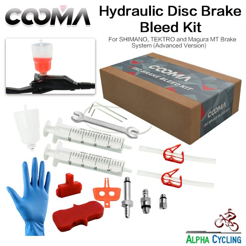 Набор гидравлических тормозов COOMA для тормозной системы SHIMANO и Magura, тормозная система минерального масла, набор для кровотечения V2.5