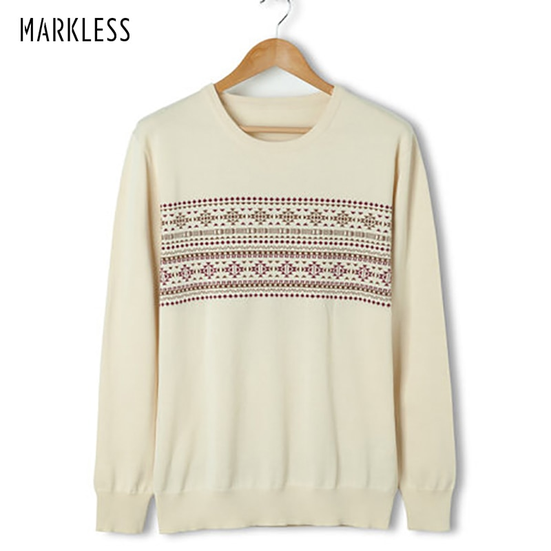 Jerseys de Otoño de lana fina sin Markless para hombre, jerséis con descuento a bajo precio, venta de Jersey de cuello redondo de manga larga a la moda para hombre