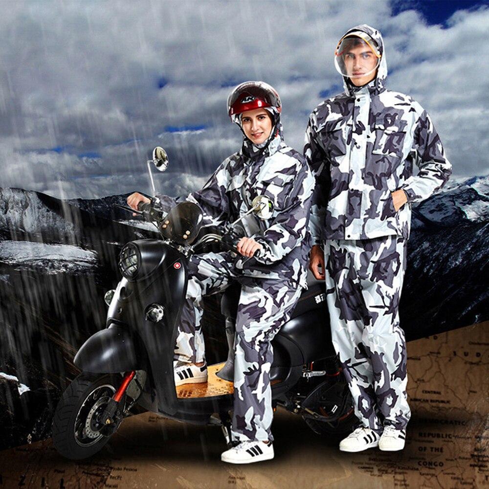 Camouflage Raincoat Rain Pants Set Adult Motorcycle Rain Suit Fishing Jackets Waterproof Windproof Women Men Poncho Sports Suits enlarge