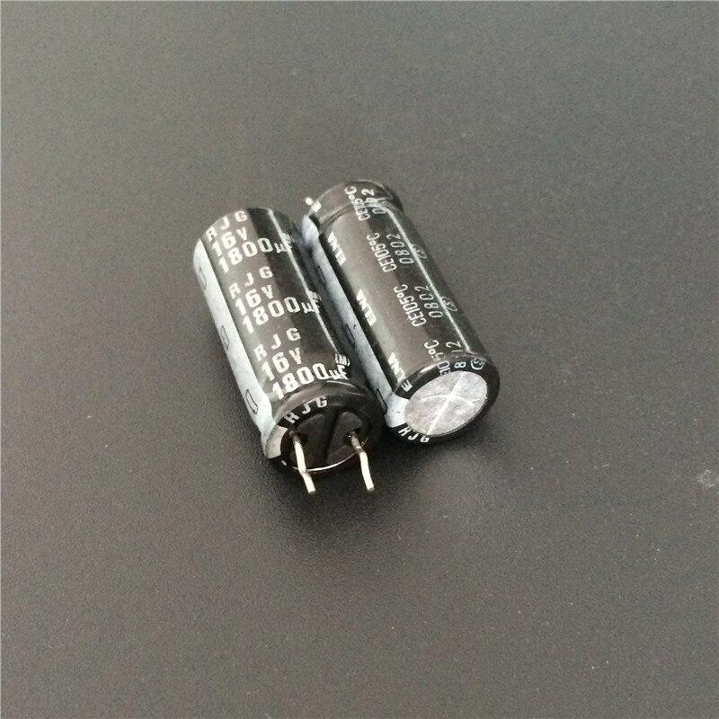 50 pces 1800 uf 16 v elna rjg série 10x25mm 16v1800uf capacitor de áudio