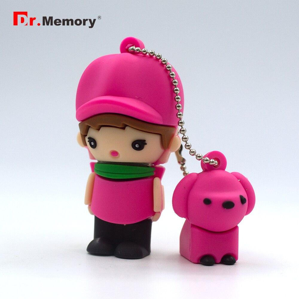 Pendrive Usb de dibujos animados para niña/niño de 64 GB, lápiz de memoria Usb de 32 GB, Mini pendrive de 4 GB, 8 GB, 16 GB, Mini memoria Flash, artículos de quema, llave Usb