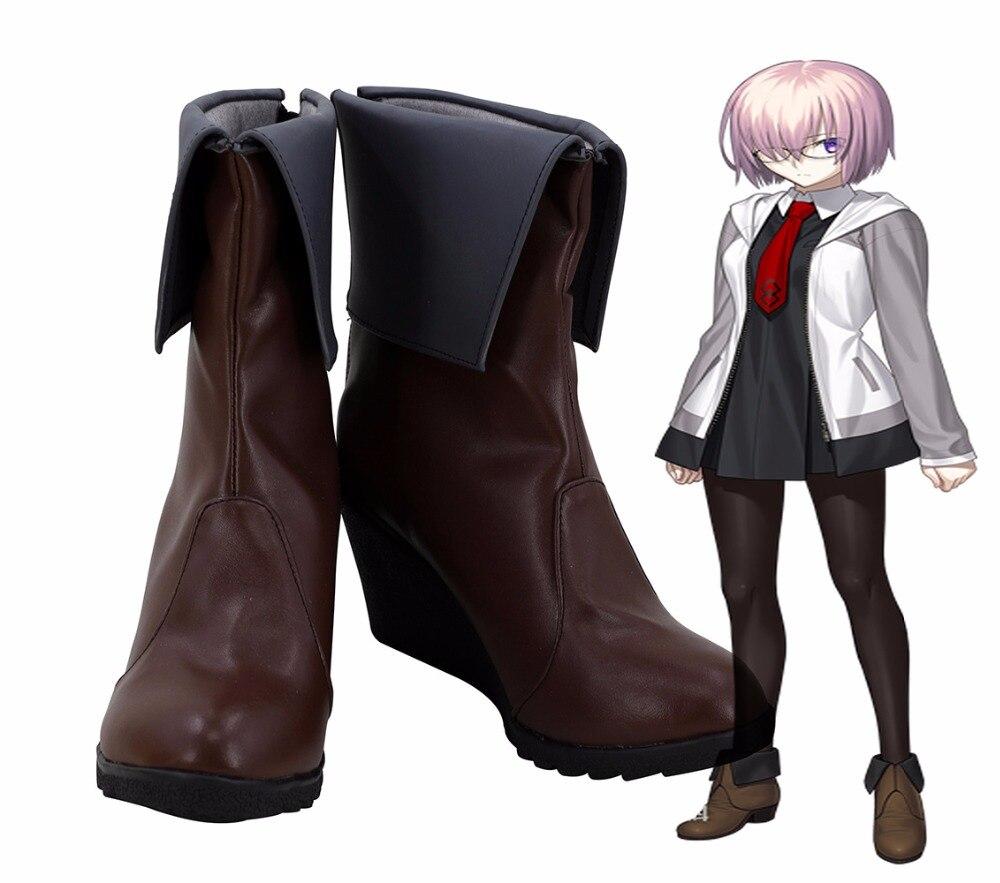 Fgo mashu kyrielight sapatos cosplay fate grand order matthew mashu kyrielight cosplay botas de salto alto sapatos unissex usar sapatos