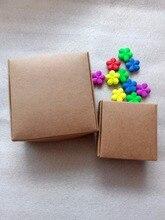 50 pcs diy 크래프트 종이 상자 선물 상자 결혼식 호의 생일 사탕 쿠키 크리스마스 보석 패키지 상자 파티 용품