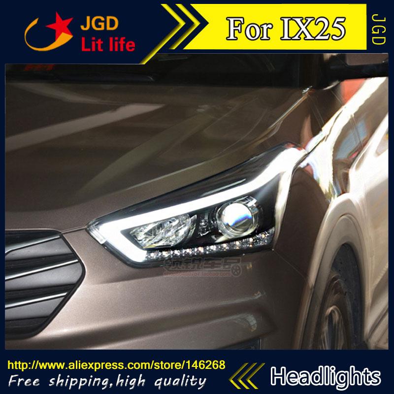 Free shipping ! HID Rio LED headlights headlamps HID Hernia lamp accessory products For Hyundai IX25 2014