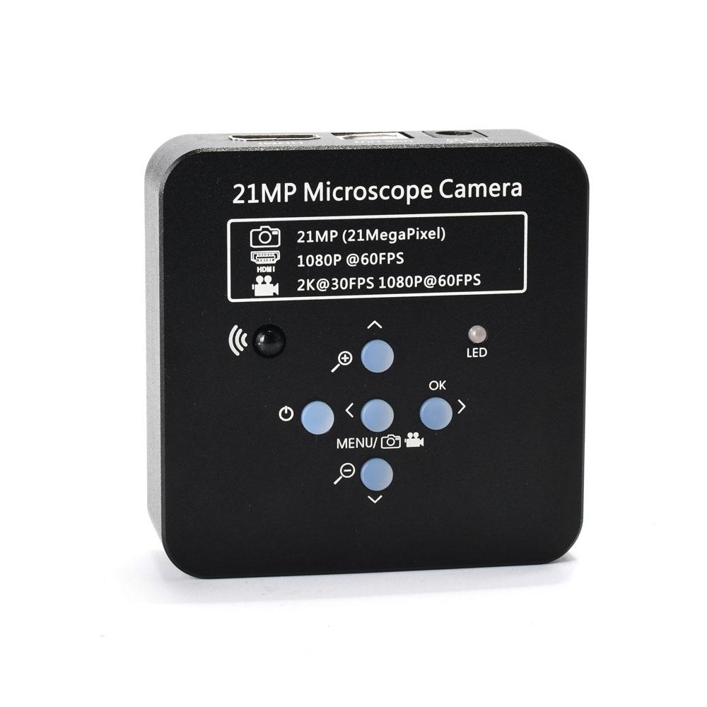 كاميرا مجهر فيديو رقمية صناعية ، 2K ، 21MP ، 1080P ، 60FPS ، HDMI ، USB ، مكبر ، للهاتف ، PCB ، THT ، لحام
