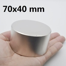 Aimant néodyme N42 70x40mm   Aimants ronds super forts en métal de gallium 70*40, aimants puissants permanents 1 pièce