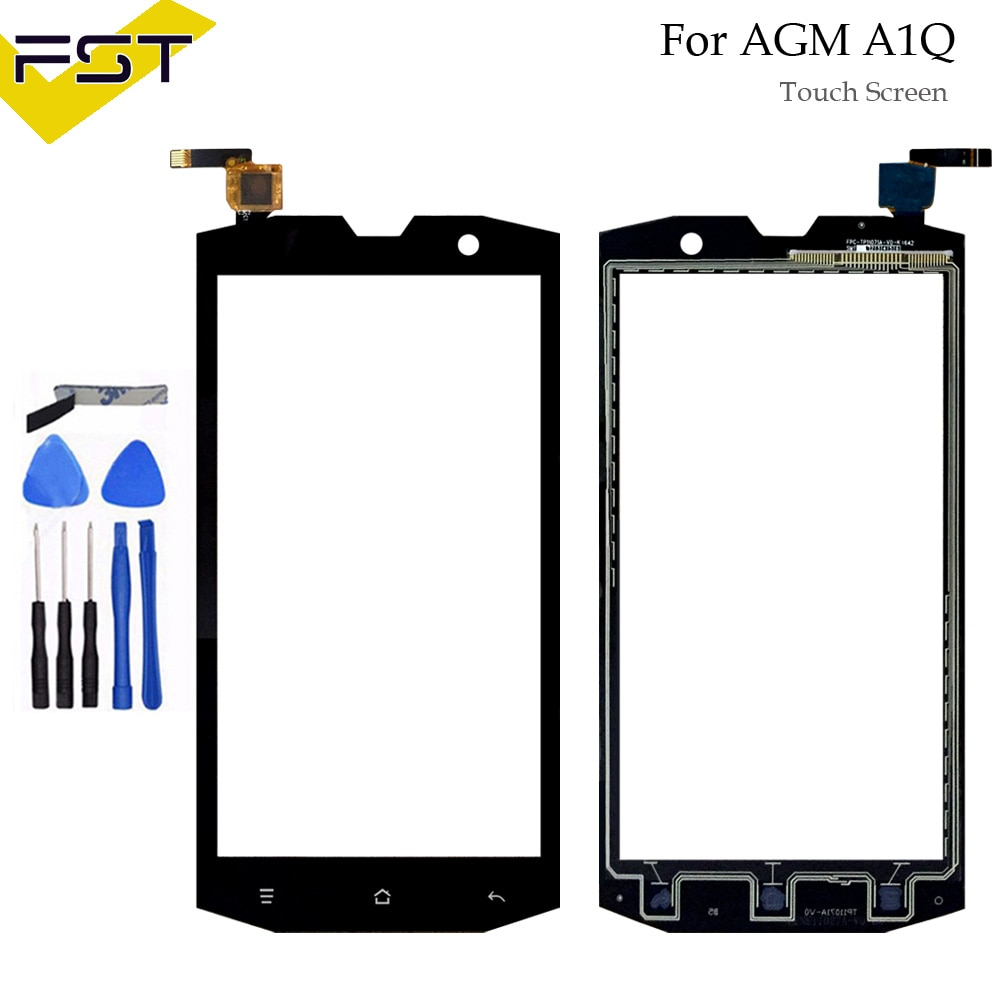 5.0'' Mobile Phone Touch Glass For AGM A1Q A1 Q Touch Screen Glass Digitizer Panel Sensor Tools+Adhe