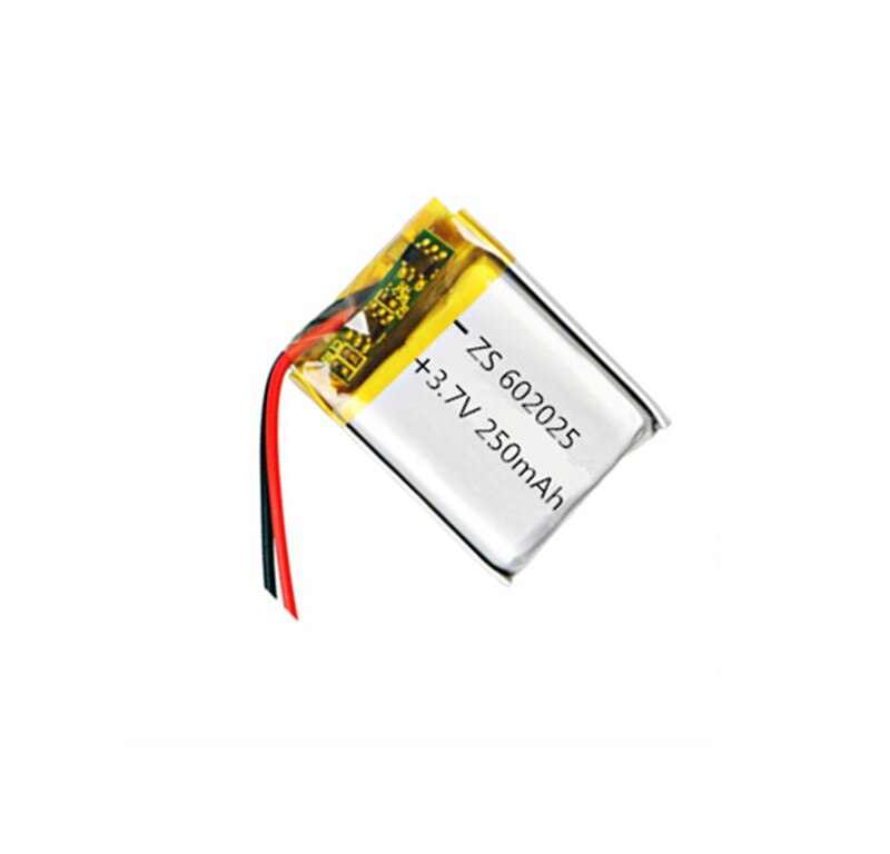 1/2PCS 3,7 V 250mAh 602025 Lithium-Polymer Li-Po li ionen Akku zellen Für mp3 MP4 MP5 GPS PSP mobile bluetooth